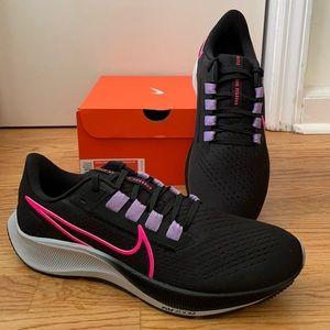 Nike Air Zoom Pegasus 38 Women's Sneakers Running Shoes Black Lilac Pink